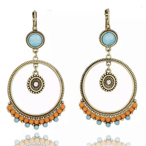 Boho Vintage Ethnic  Geometric Dangle Earrings - Hollywood Sensation