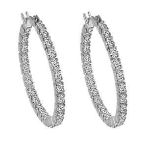 Crystal Hoop Earrings-Silver Hoop Earrings- Thin Gold Hoop Earrings - Hollywood Sensation