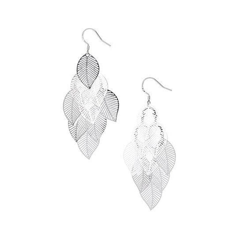 Ava Leaf Earring 925 Sterling Silver Plated- Sterling Silver Earrings- Earrings for Women - Hollywood Sensation