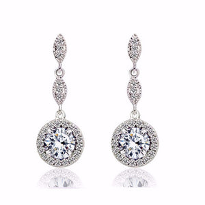"Drop Earrings for Women-Drop Earrings""Crystal Fantasy ""- 18k Gold Plated Earrings - Hollywood Sensation"