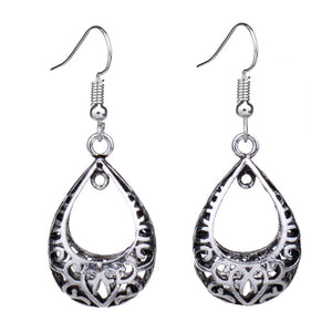 Tieha Retro Drop Dangle Silver Earring - Hollywood Sensation