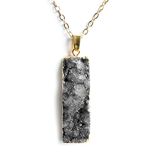 Druzy Bar Necklace- Druzy Necklaces for Women