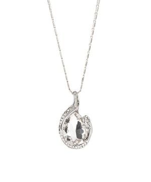 Olympia Crystal White Gold Plated Necklace with Pendant - Hollywood Sensation