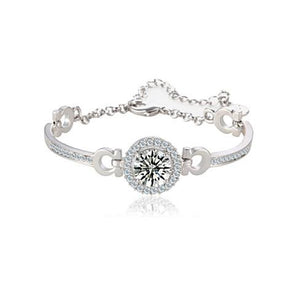 "18K White Gold  Swiss Cubic Zirconia Bracelet-""Hope Bracelet"""