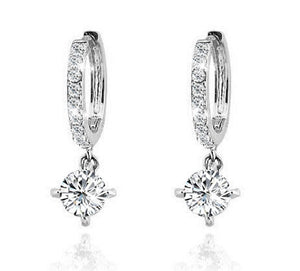 Cubic Zirconia Dangle Earrings- Cubic Zirconia Drop Earrings- Crystal Dangle Earrings - Hollywood Sensation