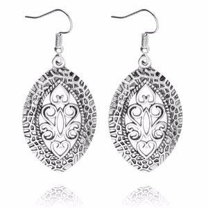 Tara Retro Silver Earring Women's Drop Dangle Earring - Hollywood Sensation