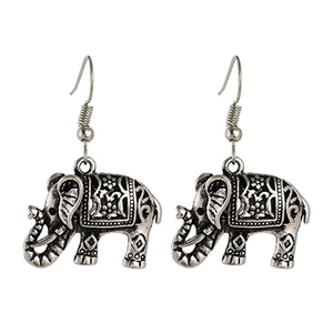 Elephant Earrings Silver-Siam Legacy Earrings - Hollywood Sensation