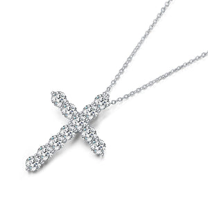 Enduring Faith Cross Simulated Diamond Necklace - Hollywood Sensation