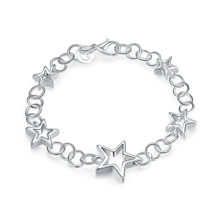 Silver Plated Link Charm Bracelets for Women - Emery Star Bracelet