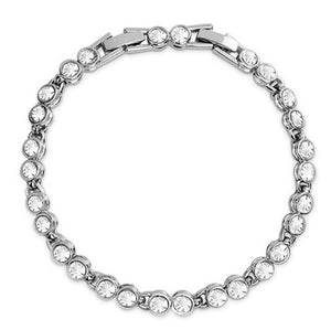 Tennis Bracelet 18k White Gold Plated - Hollywood Sensation
