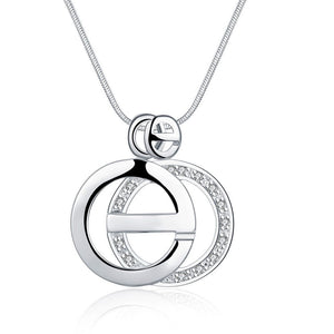 "925 Sterling Silver Plated Necklace- Silver Necklace for Women-""Giselle Necklace"" - Hollywood Sensation"