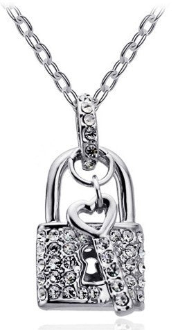 "Ryan ""Royal""  Necklace 18K White Gold Plated - Hollywood Sensation"