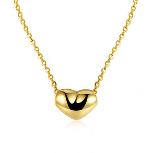 Whispers Heart Necklace 18K Gold Plated Pendant Necklace - Hollywood Sensation