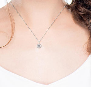 Crystal Necklace Pendant- Hope Necklace White Gold Plated-Crystal Pendant-Crystal Necklace for Women - Hollywood Sensation