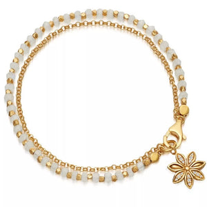 Crystal Beaded Bracelet with Daisy Charm - Hollywood Sensation