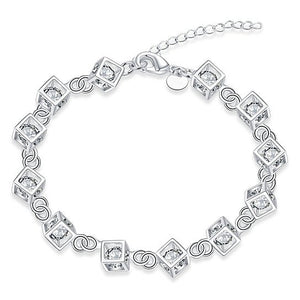 Jasmine Crystal Simple Chain Bracelet - Hollywood Sensation