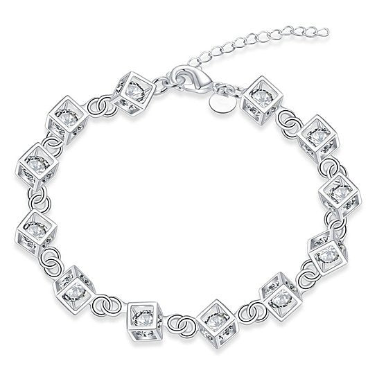 Jasmine Crystal Simple Chain Bracelet