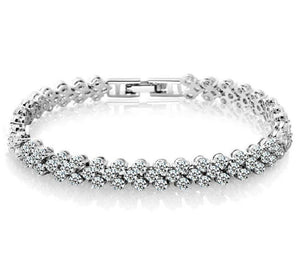Eternal Love Silver Tennis Bracelet - Hollywood Sensation