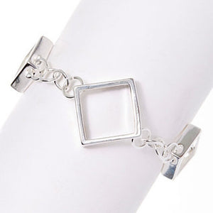Morgan Silver Link Bracelet - Hollywood Sensation
