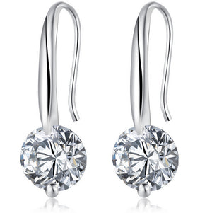 Maryam Simulated Diamond Drop Earrings - Hollywood Sensation