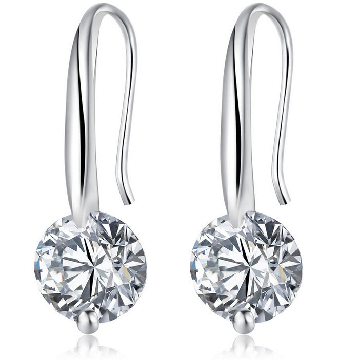 Maryam Simulated Diamond Drop Earrings