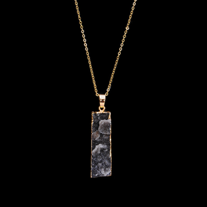 Druzy Bar Necklace Gold Plated - Hollywood Sensation