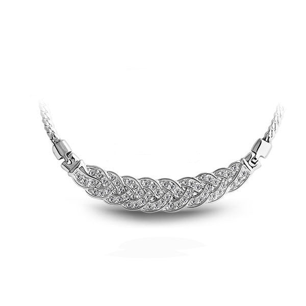 Ella Necklace 18K Gold and White Gold Plated