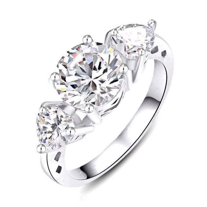 Round Cut Prong Set Cubic Zirconia Ring