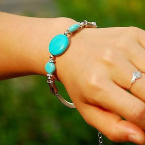 Turquoise Mystery Retro Bracelet - Hollywood Sensation