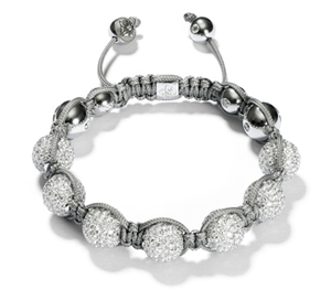 White and Grey Shamballa Bracelets/ Pink and Gray Shamballa Bracelet - Hollywood Sensation
