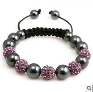 Pink and Gray Shamballa Bracelet - Hollywood Sensation