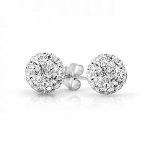 Shamballa Earring Sterling Silver 925 Plated - Hollywood Sensation