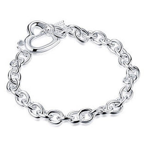 Skylar Heart Silver Crystal Bracelet - Hollywood Sensation