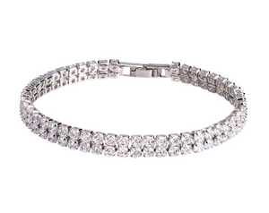 Tennis Bracelet-Simulated Diamond Tennis Bracelet - Hollywood Sensation