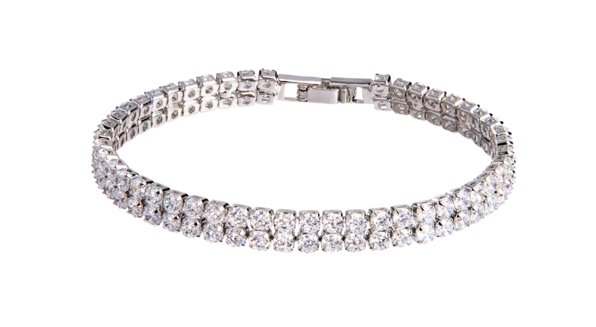 AllenCOCO 18K Gold Plated Cubic Zirconia Classic Tennis Bracelet