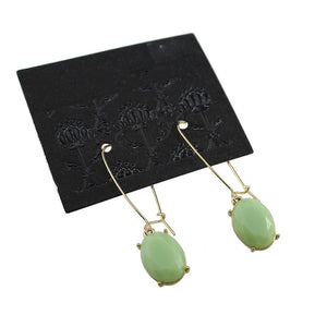 Water Drop Mint Crystal Drop Dangle Earrings-Saim Earrings-Dangle Earrings - Hollywood Sensation
