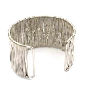 Silver Wire Cage Cuff Bangle Bracelet - Hollywood Sensation