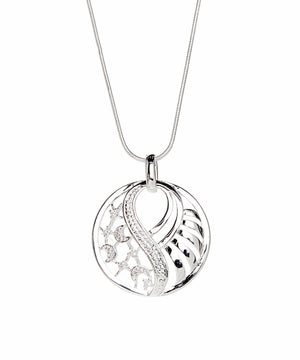 Ellen Necklace Silver Plated Pendant Necklace - Silver Necklace for Women - Hollywood Sensation
