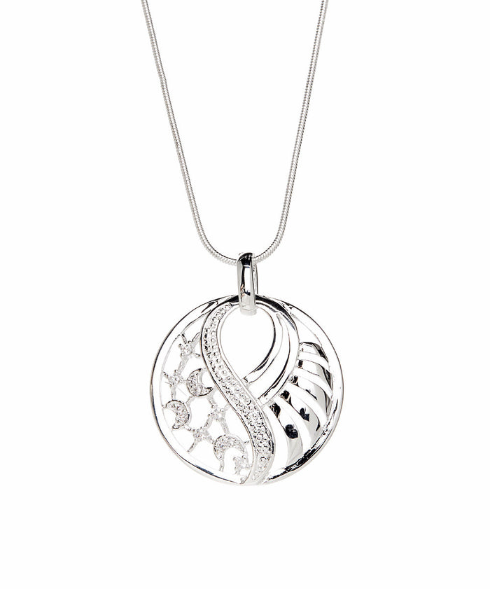 Ellen Necklace Silver Plated Pendant Necklace - Silver Necklace for Women