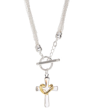 Eternal Faith Necklace 925 Sterling Silver Plated- Sterling Silver Necklace - Hollywood Sensation