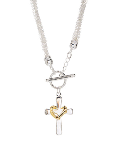 Eternal Faith Necklace 925 Sterling Silver Plated - Hollywood Sensation
