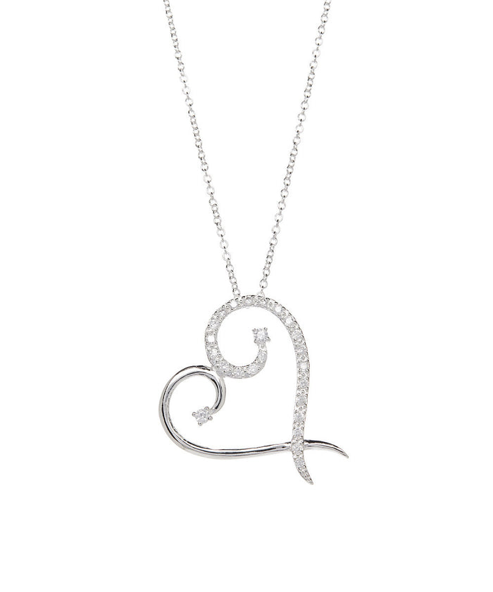 Harmony Modern Heart Necklace 925 Sterling Silver Plated- Necklace for Women- Pendant Necklace- Necklace Pendan