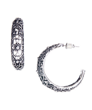 Royal Vintage Hoop Retro Earrings - Hollywood Sensation