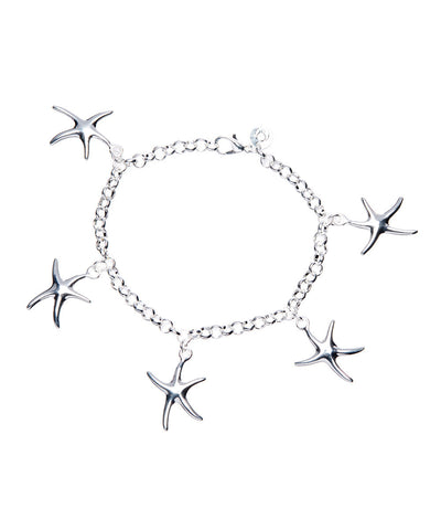 Lexi Starfish Charm bracelet 925 Sterling Silver Plated