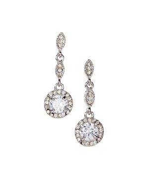 "Dangle Earrings Cubic Zirconia Gold Plated ""Crystal Fantasy Earrings"" - Hollywood Sensation"