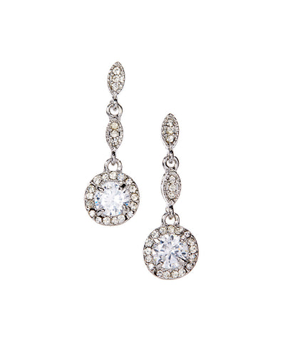 Crystal Fantasy Earrings-18k Gold Plated Drop Earrings - Hollywood Sensation