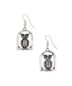 Vintage Owl Earrings-Owl Vintage Earrings - Hollywood Sensation