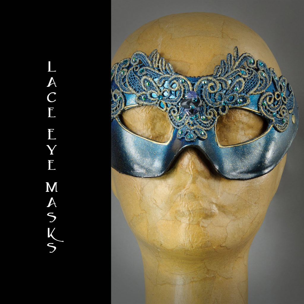 Lacquered Lace eye masks