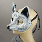 arctic fox mask side view