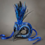 Blue Jay bird mask detail